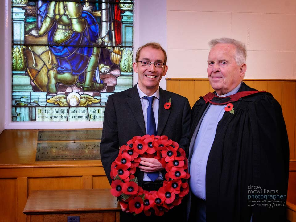 A wreath was laid at the the commencement of Dromore Non-Subscribibng Church service on Remembrance Sunday