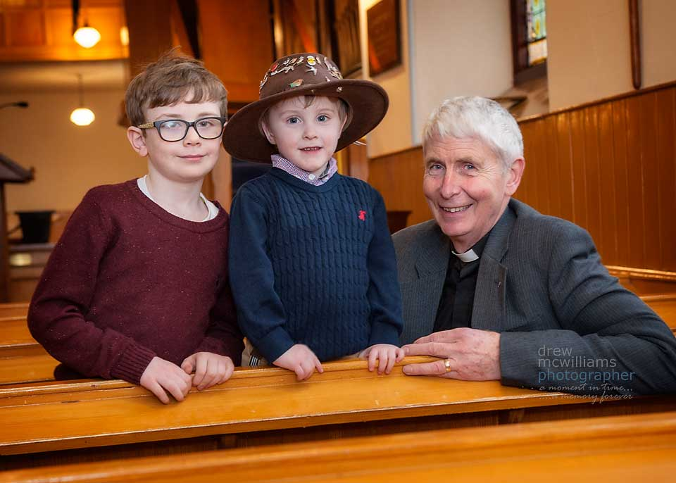Children's address time at Dromore Non-Subscribing Presbyterian Church