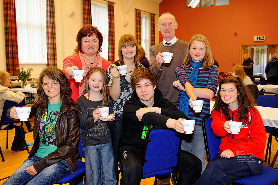 Charity fund raising by the Bible Class at Dromore Non-Subscribing Presbyterian Church