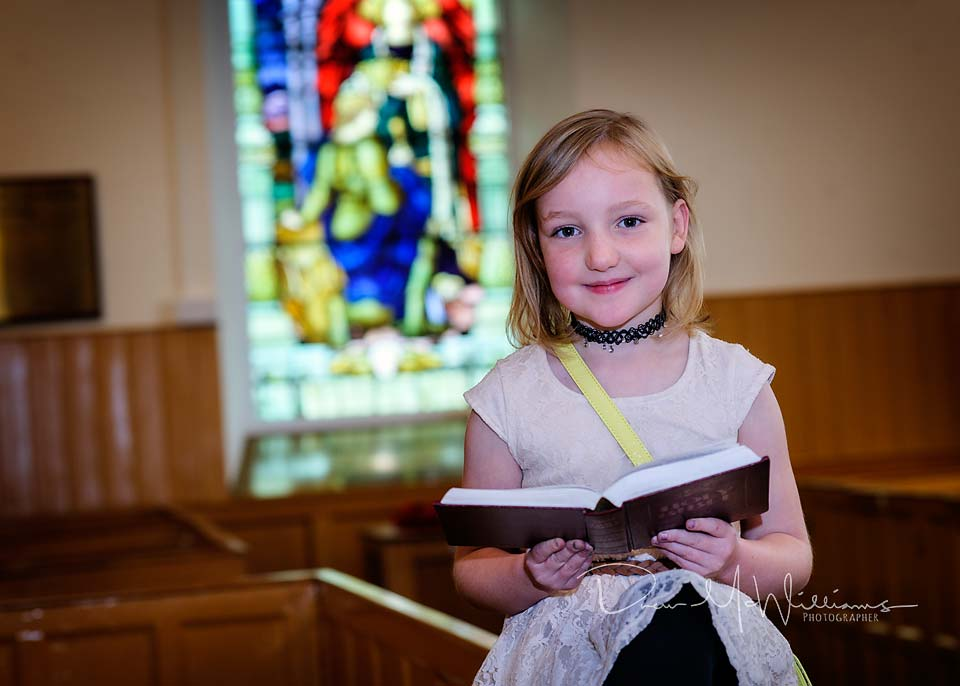 Sunday School pupil at Dromore Non-Subscribing Presbyterian Church