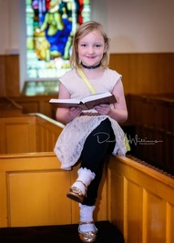 Abigail from the Sunday School read in church