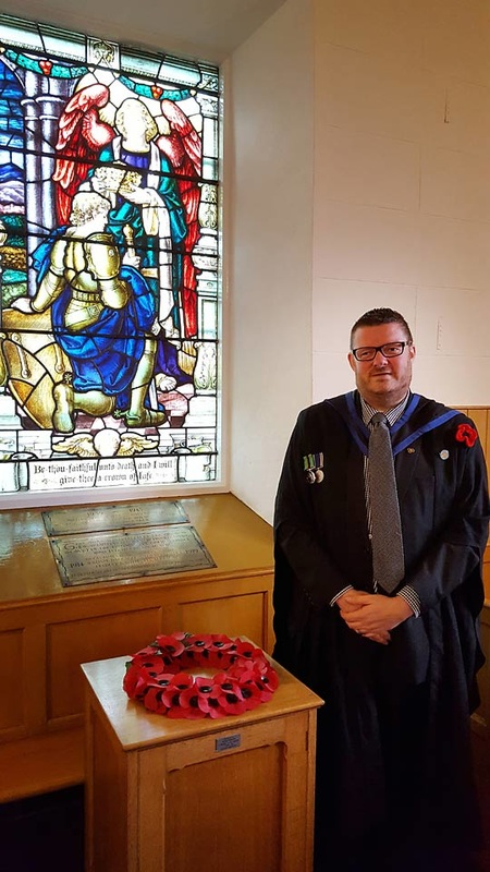 Alister Bell at Dromore NSP Church on Remembrance Sunday
