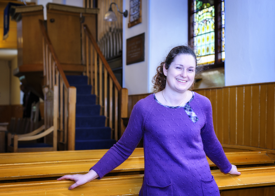 Dr Heather Walker photographed after delivering her sermon at Dromore Non-Subscribing Presbyterian Church