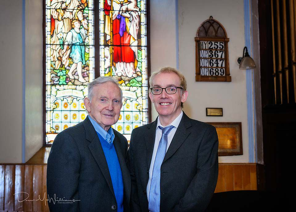 Joe Martin (Senior) and his son Joe Martin at Dromore NSP Church