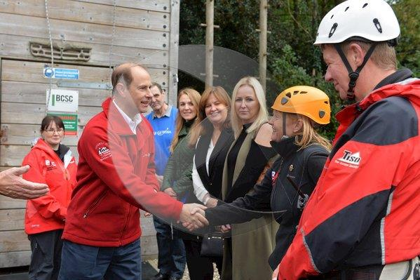 Prince Edward meets Nicola Campbell and the Belfast Activity Centre team
