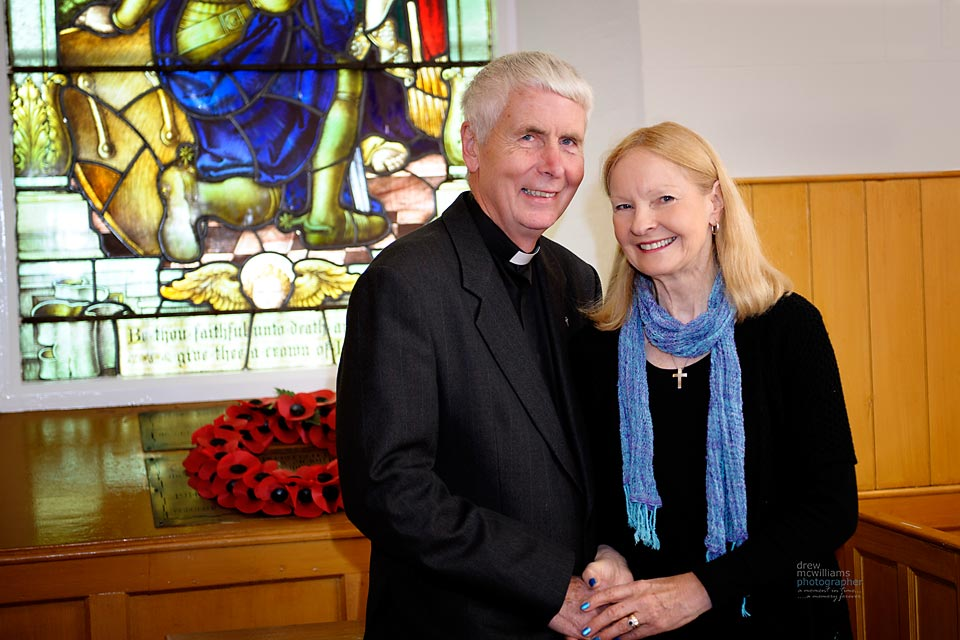 Photograph of Rev and Mrs Robert McKee at Dromore Non-Subscribing Presbyterian Church