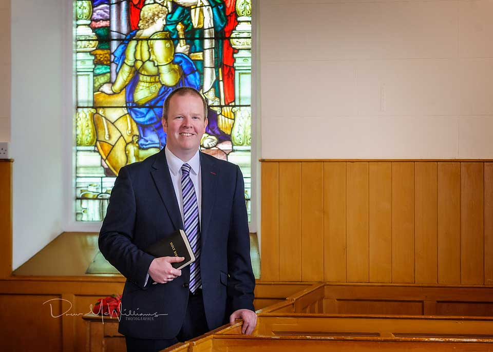 Sam Agnew was the preacher at Dromore Non-Subscribing Presbyterian Church