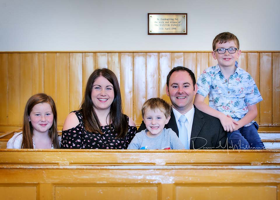 The Wilson family at Dromore Non-Subscribing Presbyterian Church